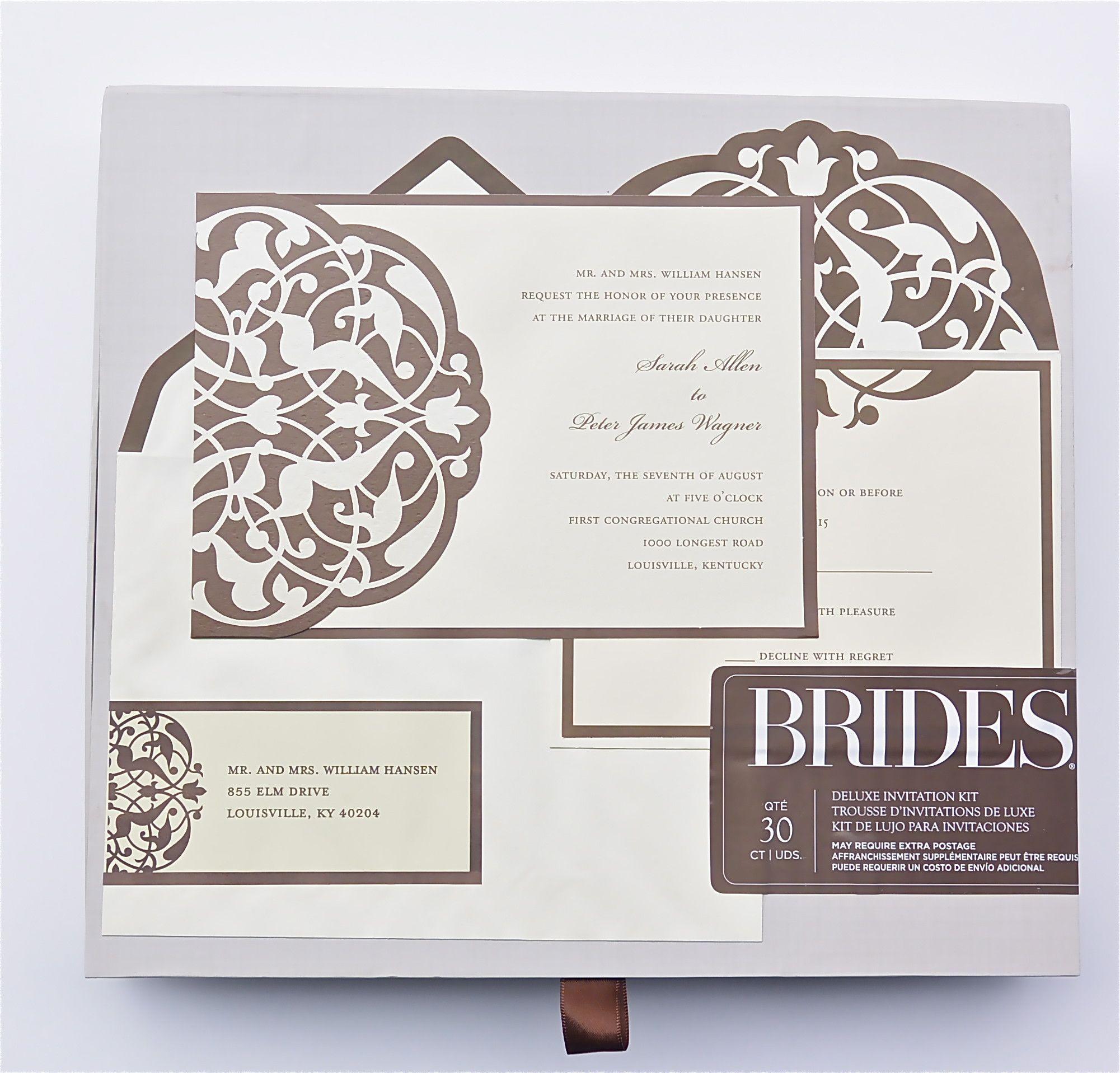 Brides Wedding Invitation Kit: Brides Deluxe Invitation Kit