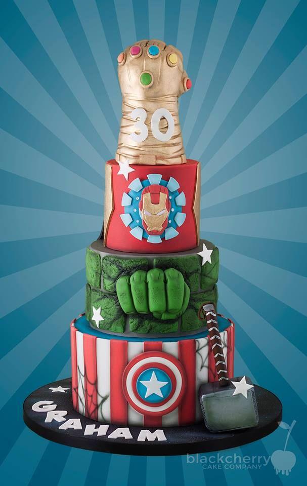 Marvelous Infinity Gauntlet And Avengers Wedding Cake