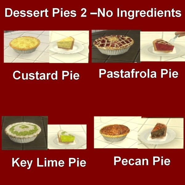 Mod The Sims: Custom Food Dessert Pies 2 by Leniad • Sims 4 Downloads
