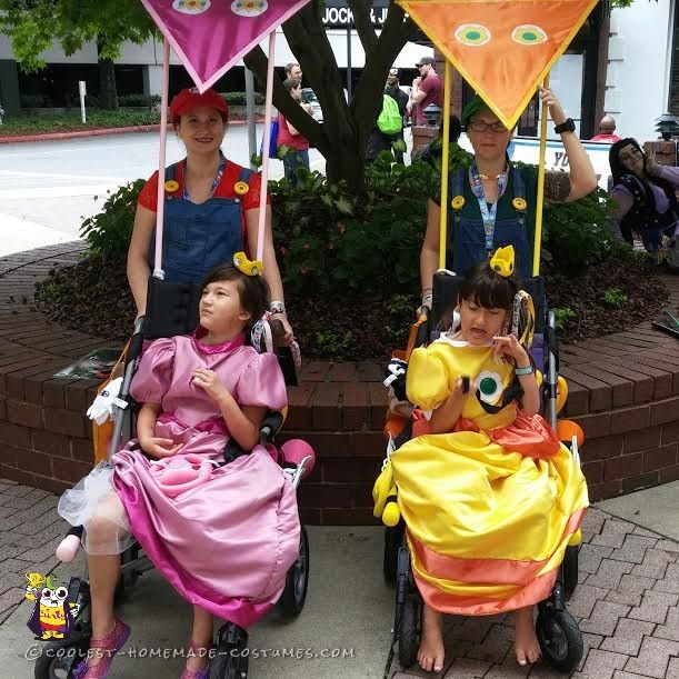 Princess Daisy and Princess Peach Costumes for Wheelchairs ...