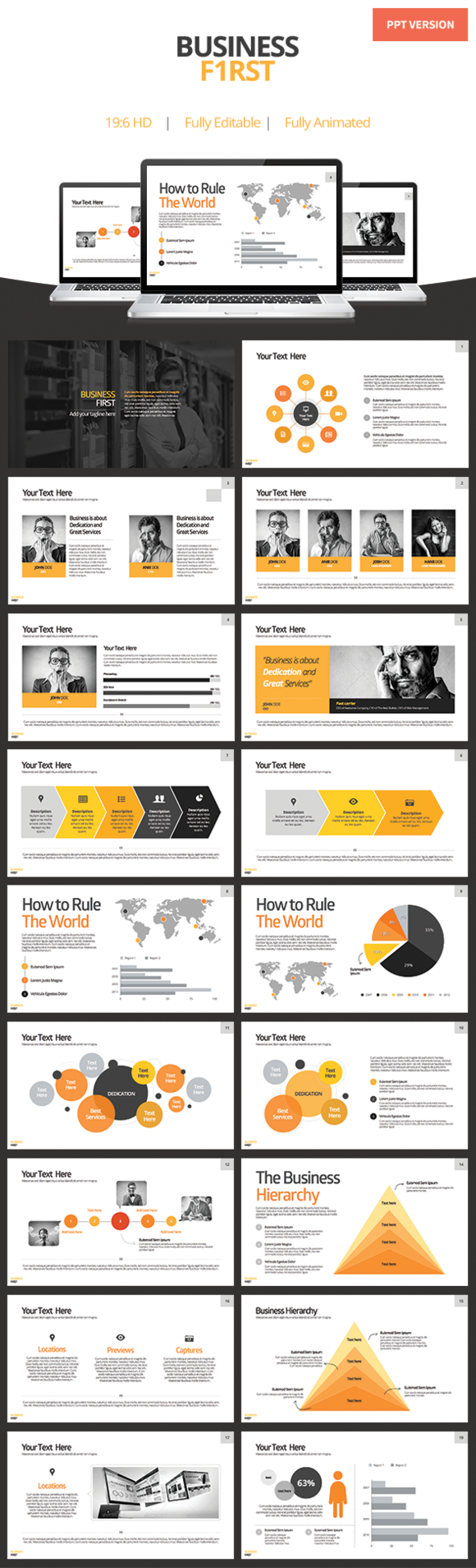 Business First  Powerpoint Template By Slidehack On Creative