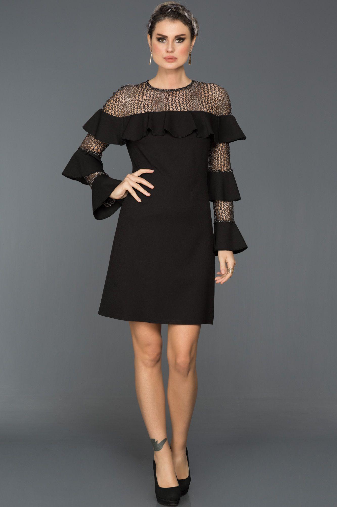 01b427207ef21 Uzun Kollu Şık Elbise MN1456 | 2018 Abiye Elbise Modelleri | Elbise ...