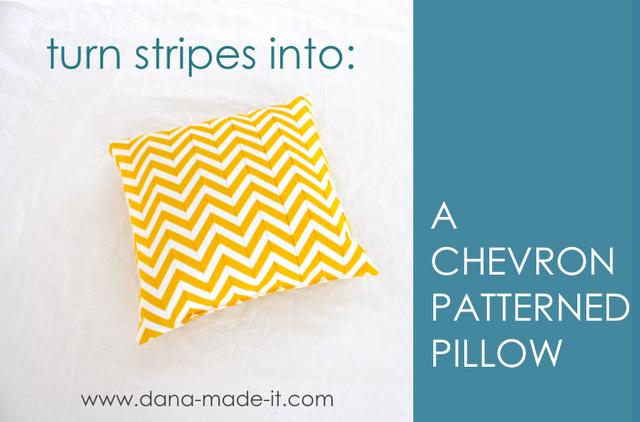 chevron pillow tutorial