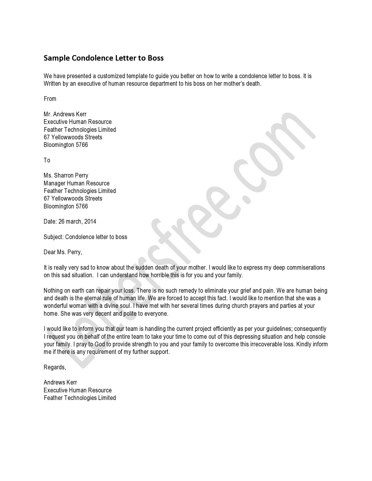 You can read the sample letter for a condolence letter that you you can read the sample letter for a condolence letter that you would give a boss spiritdancerdesigns Image collections