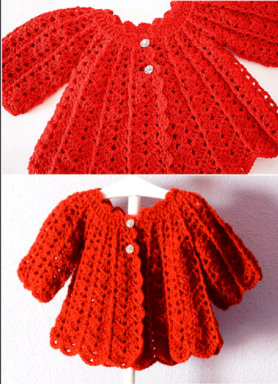 245029b42 Crochet Fast And Easy Coat For Baby Girl