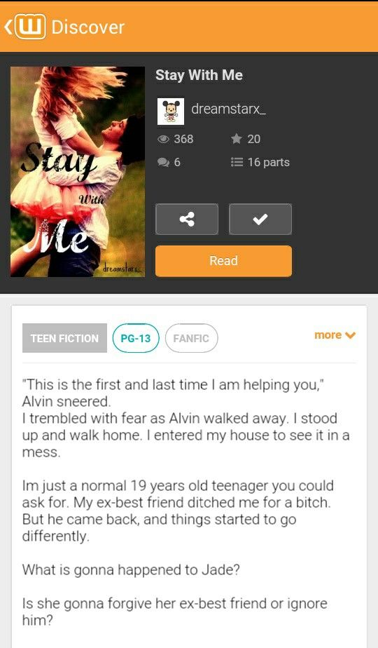 Shamelessly self promoting:'(  Do read this book.  Vote comment and share if you guys really like it   Xoxo dreamstarx_