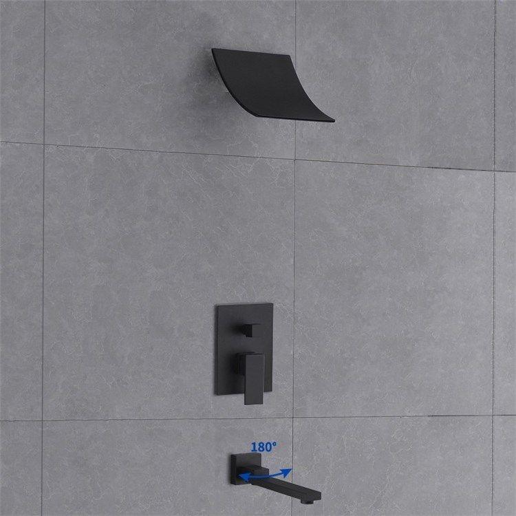 埋込形シャワー水栓 シャワーシステム 滝状吐水口 滝状ヘッド 浴槽蛇口