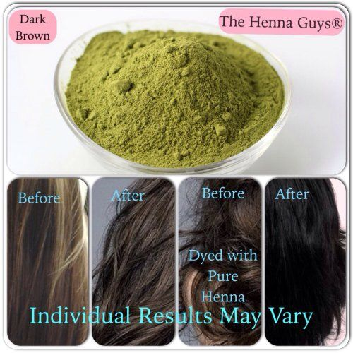 1 Pack Of Dark Brown Henna Hair And Beard Color Dye 150 Grams Chemicals Free The Guys Beauty