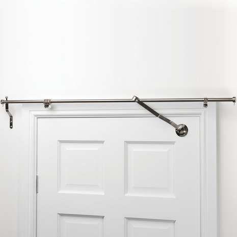 Satin Steel Door Curtain Pole Dunelm Door Curtain Pole