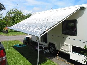 Putting Up A Roll Out Awning Step 3 With Images Caravan Awnings Awning Roll Out Awning