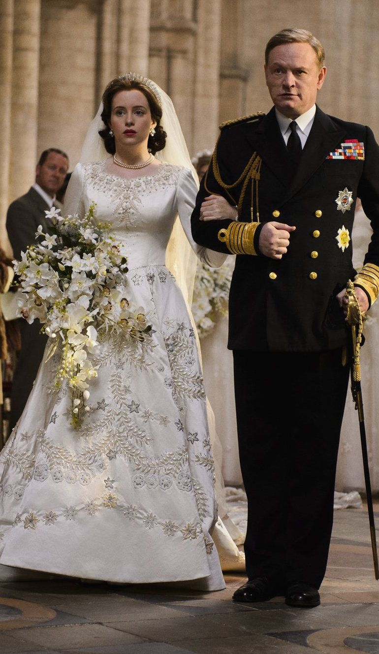 The royal wedding from 'The Crown' (2016). Costume