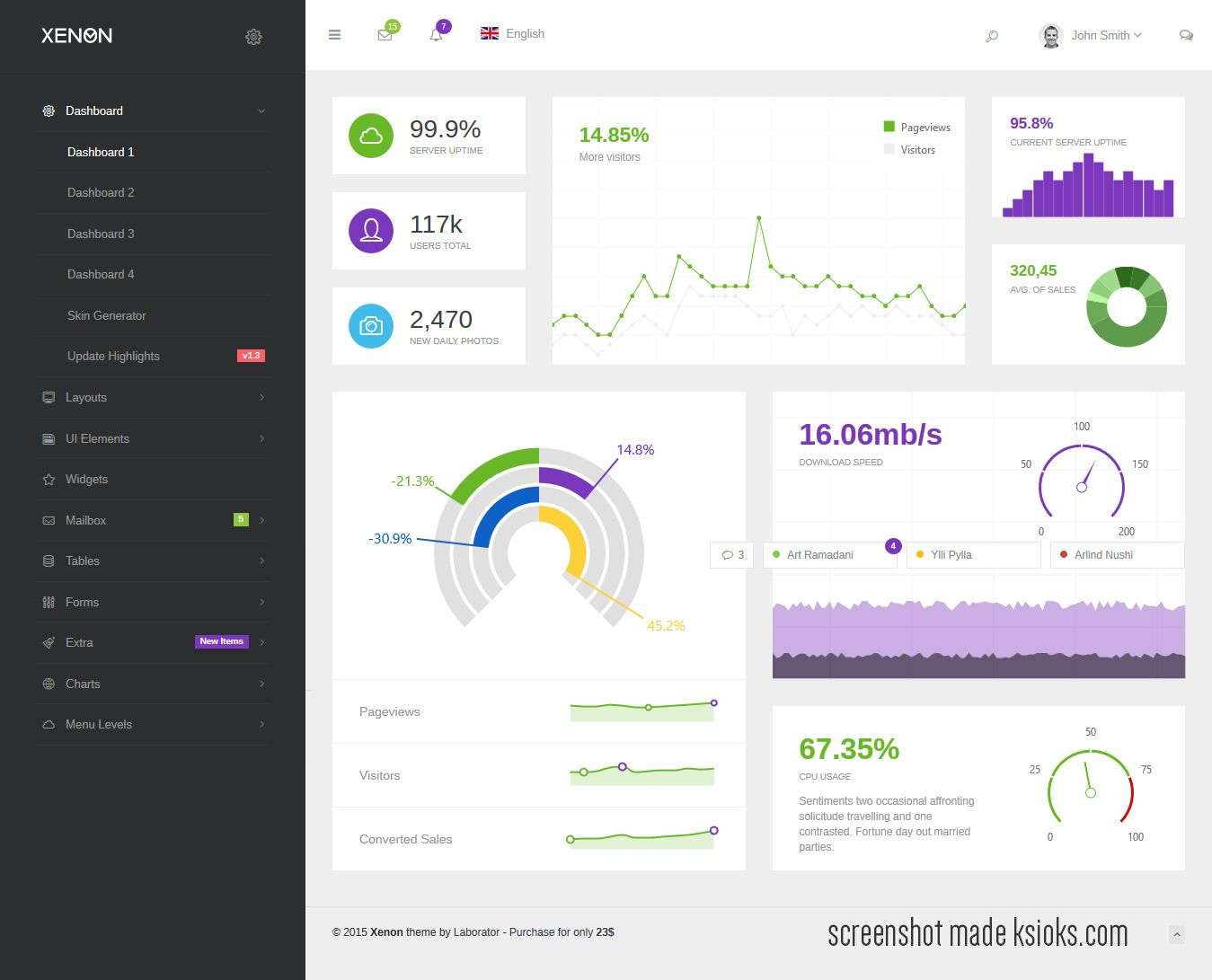 Xenon – Bootstrap Admin Theme with AngularJS #admintemplate ...