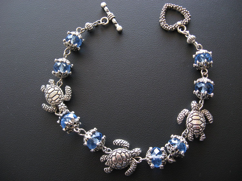 Turtle Jewelry Bracelet Blue