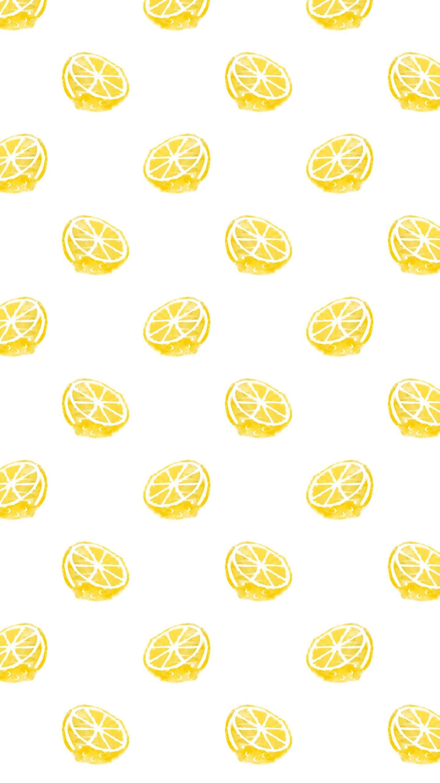 スマホquadhd壁紙 黄色 壁紙 フルーツ イラスト 壁紙