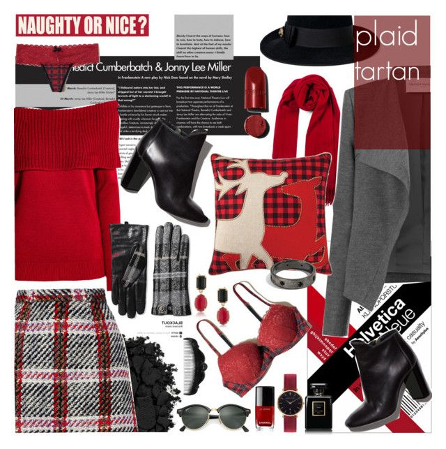 """""""Outfit #8 + Contest Tartan or Plaid"""" by perplexidadesilencio ❤ liked on Polyvore featuring Urban Decay, Marni, Pierre Hardy, Amanda Wakeley, H&M, Tommy Hilfiger, Home Decorators Collection, Hollister Co., Chanel and Ray-Ban"""