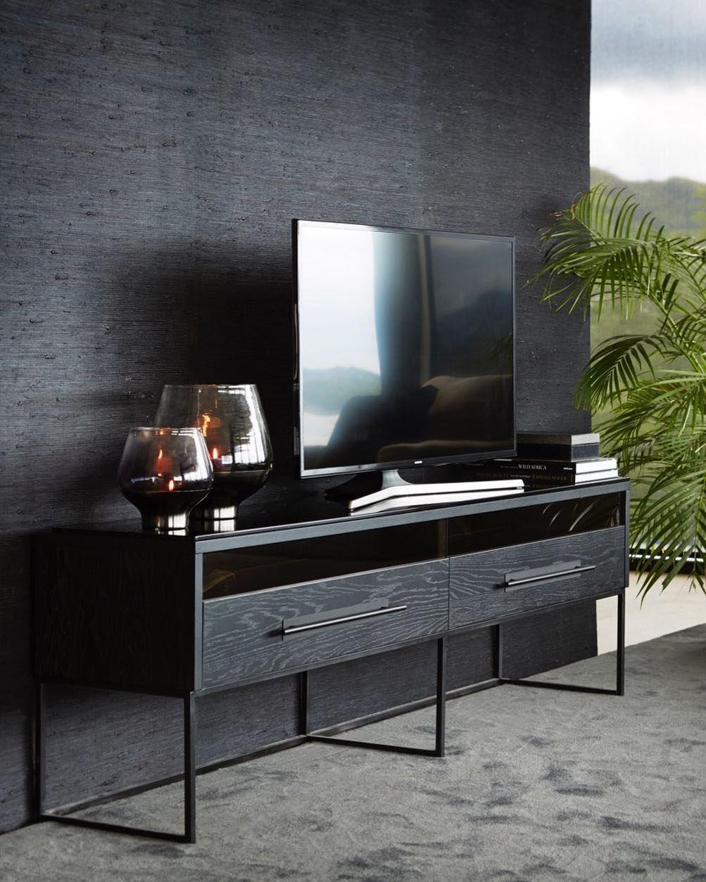 Tv benk glass