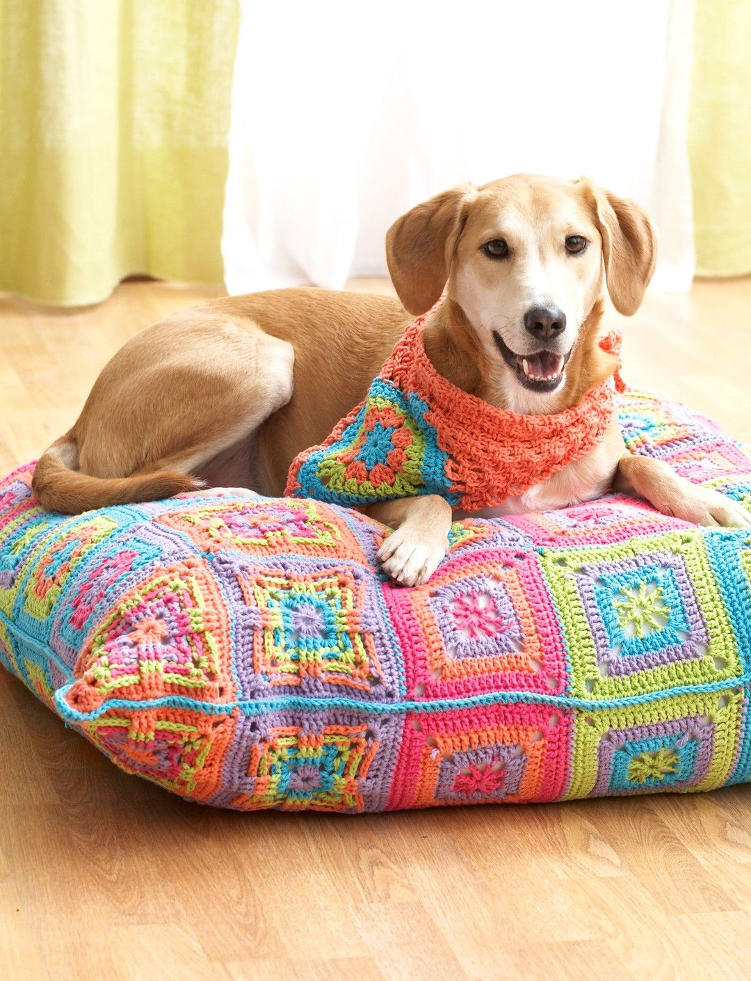 Yarnspirations.com - Lily Dog Bed and Kerchief - Patterns ...