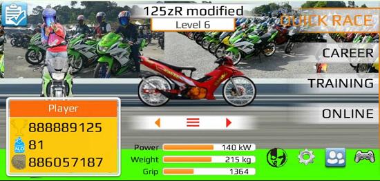 Download Drag Bike Malaysia Mod Apk 201m By Budak Ciku Game
