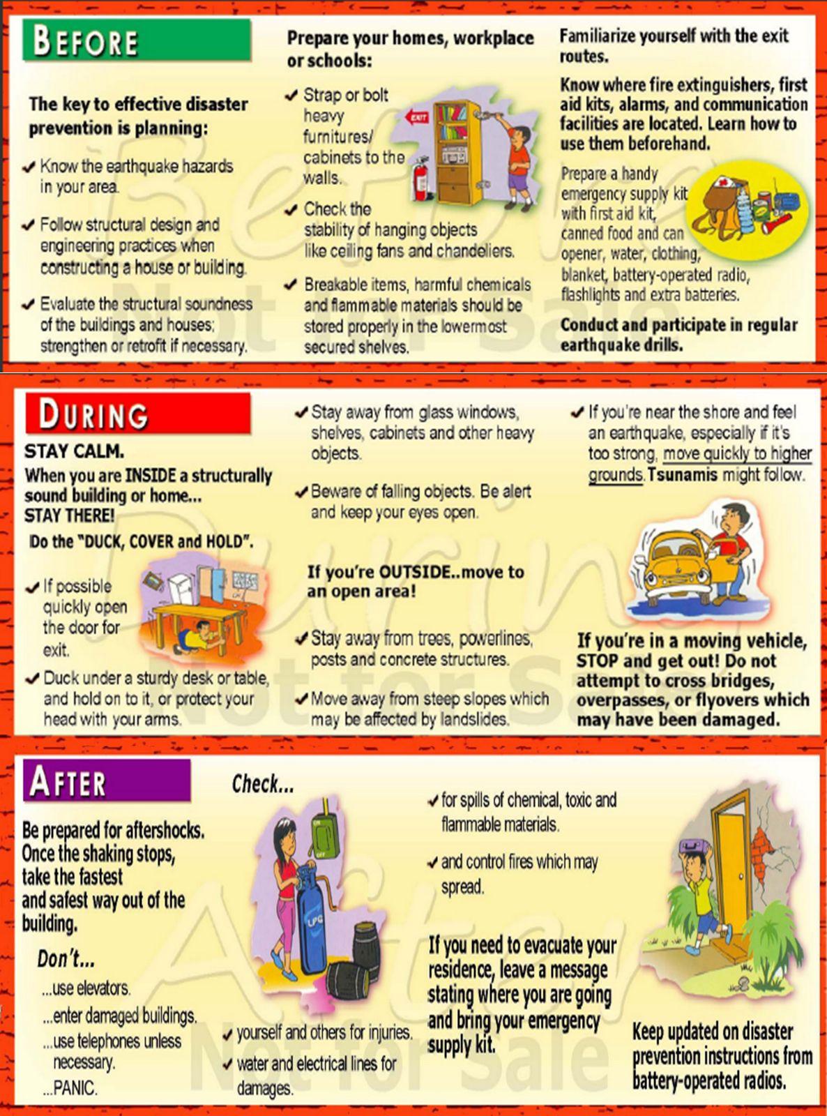 Earthquake preparedness guide by Philvocs Earthquake