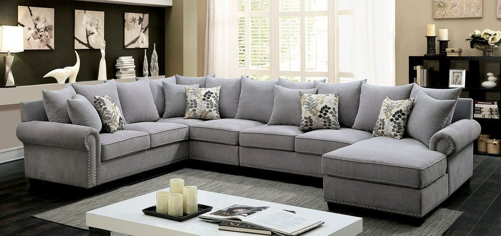 This Essential Modern Living Room Set Features Plush Seats And Cushions And Attractive Rolled Arms Trans Muebles Sala Decoracion De Sala De Tv Sofas Modulares