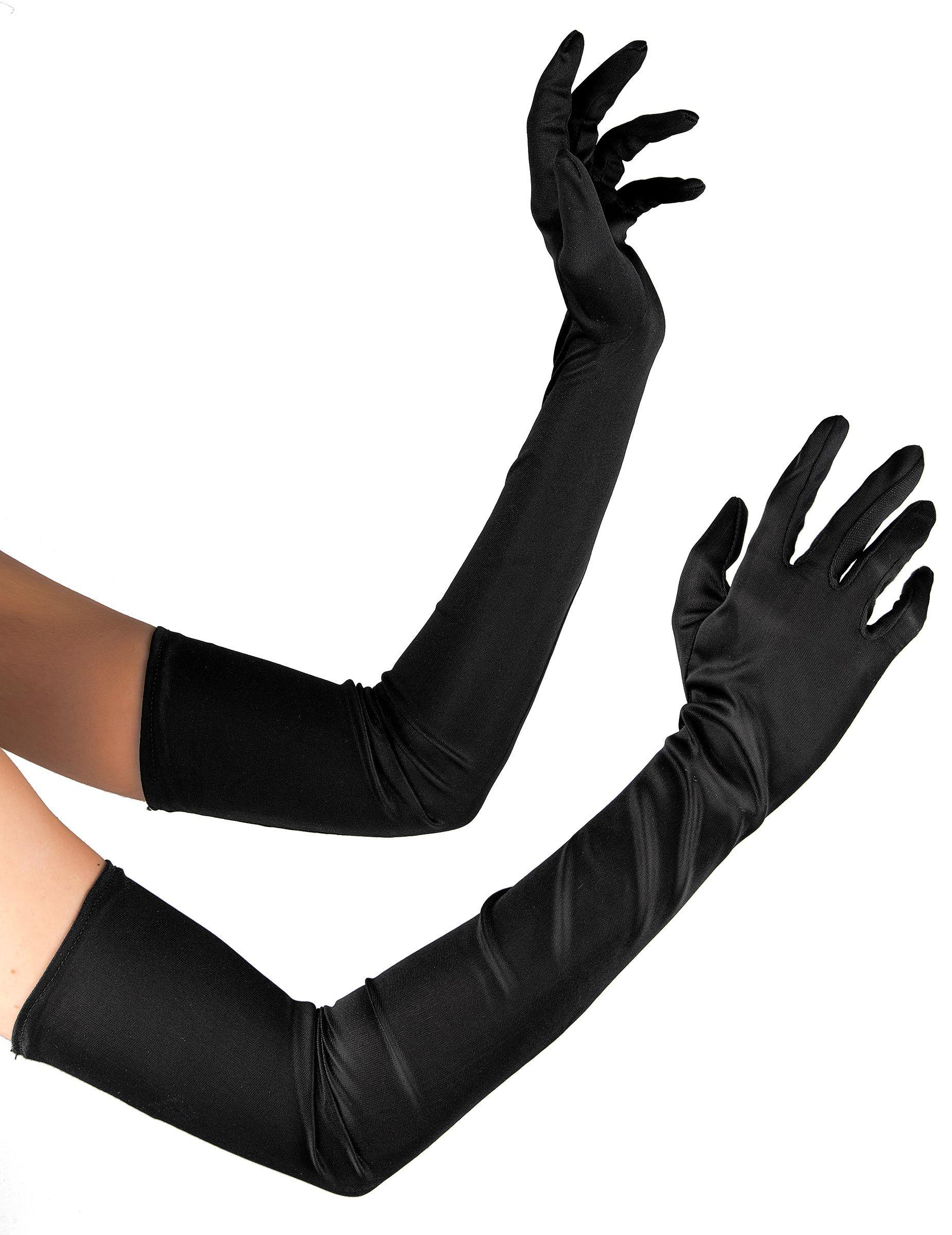 Femme long mitaines en Noir