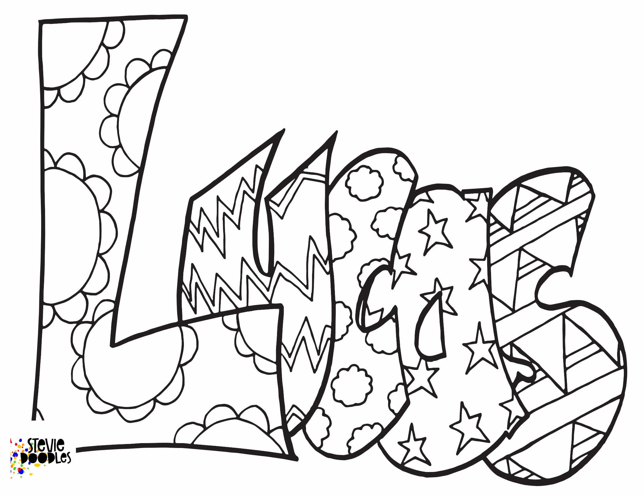Lucas Free Coloring Page Classic Stevie Doodles Stevie Doodles Coloring Pages Free Coloring Pages Name Coloring Pages