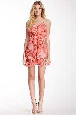 Cascading Printed Dress