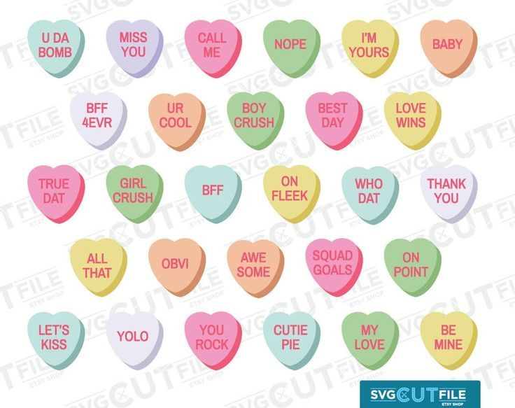Conversation Hearts Svg Candy Heart Valentine Conversation Etsy In 2021 Converse With Heart Heart Candy Valentines Conversation Hearts