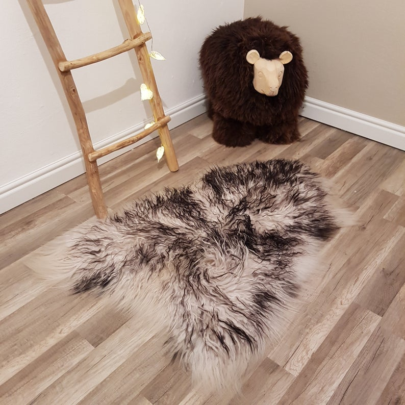 Natural Color Genuine Sheepskin Rug 100 Sheep Skin Leather Etsy In 2020 Sheepskin Rug Rug Decor Rugs