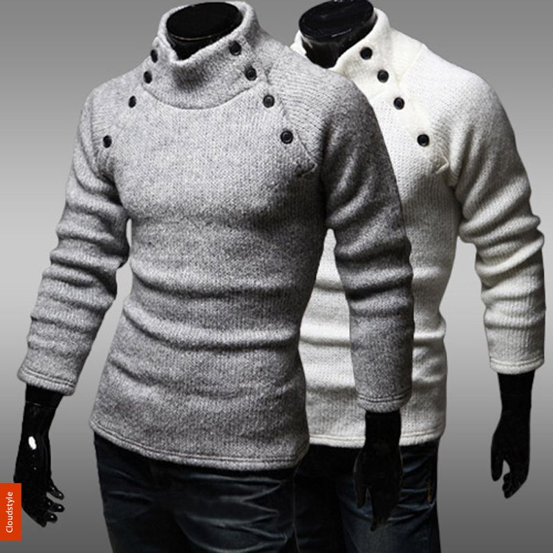 Popular Mens White Turtleneck Sweater | Aliexpress | Men's Fashion ...
