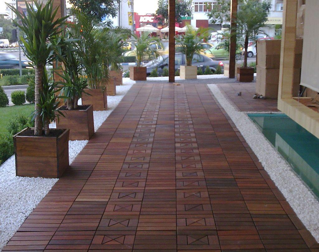 Handydeck Ipe Wood Interlocking Patio Tiles