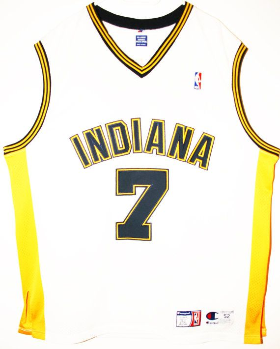 73fee2ea8 Champion NBA Basketball Indiana Pacers  7 Jermaine O Neal Authentic  Trikot Jersey Size