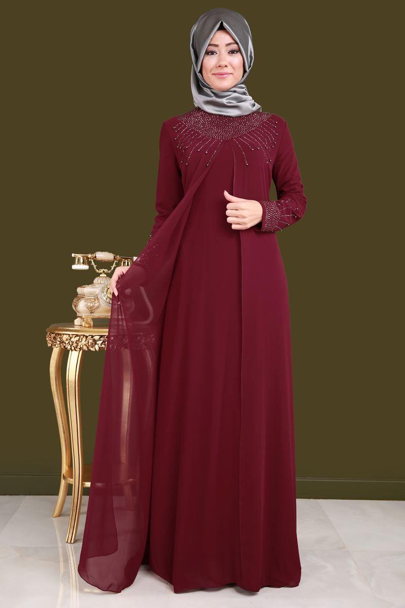 Yelek Gorunumlu Sifon Abiye Bordo Urun Kodu Rz6103 129 90 Tl The Dress Elbise Elbiseler