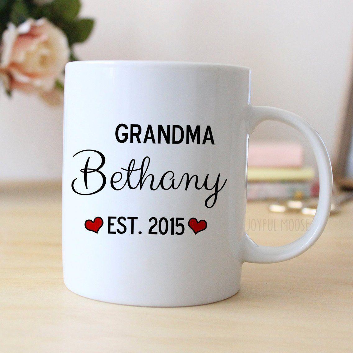 Grandma Personalized Mug Personalized Grandma Coffee Mug Grandma