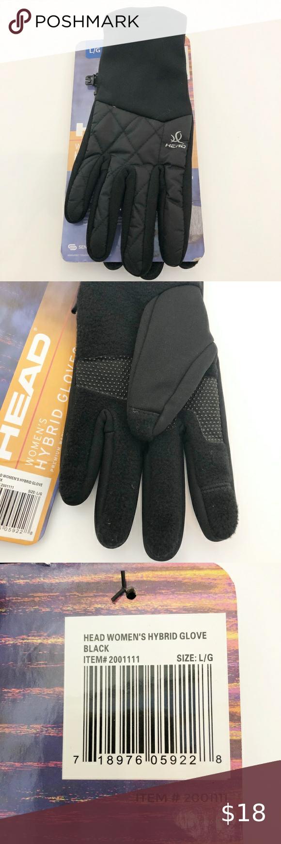 HEAD Women/'s Hybrid Gloves Touchscreen Technology