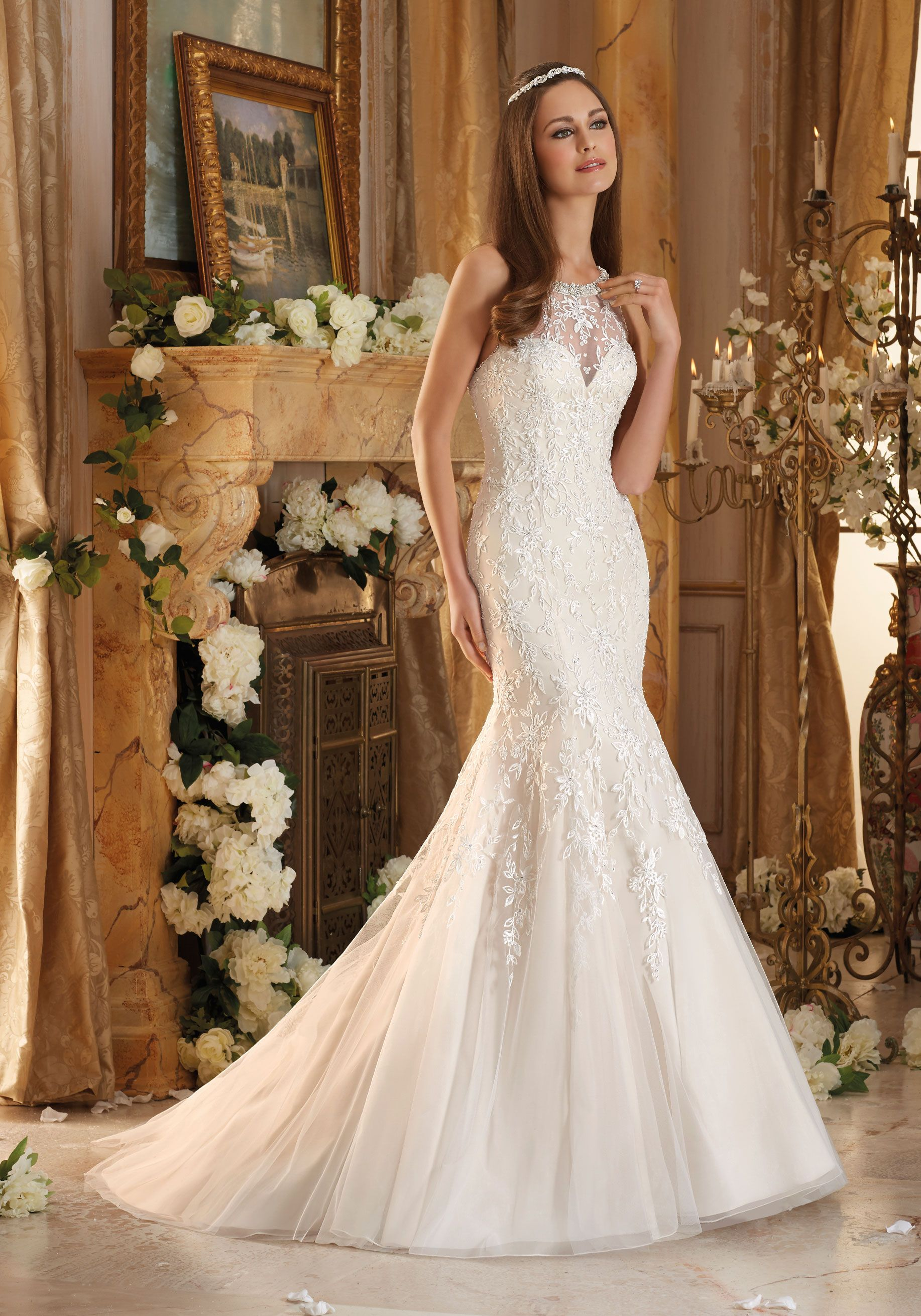Embroidery On Soft Tulle With Pearls And Crystals Morilee Wedding Dress Styles Mori Lee Wedding Dress Designer Bridal Gowns