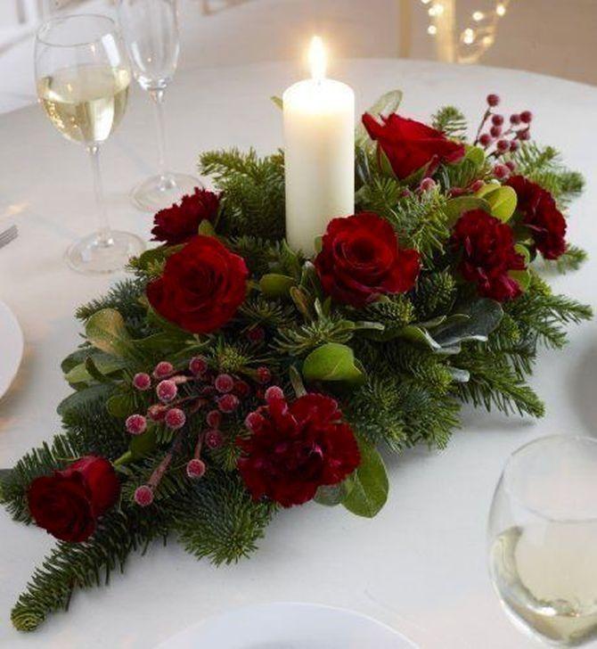 christmas floral arrangements Wedding Flowers in 2020 ...