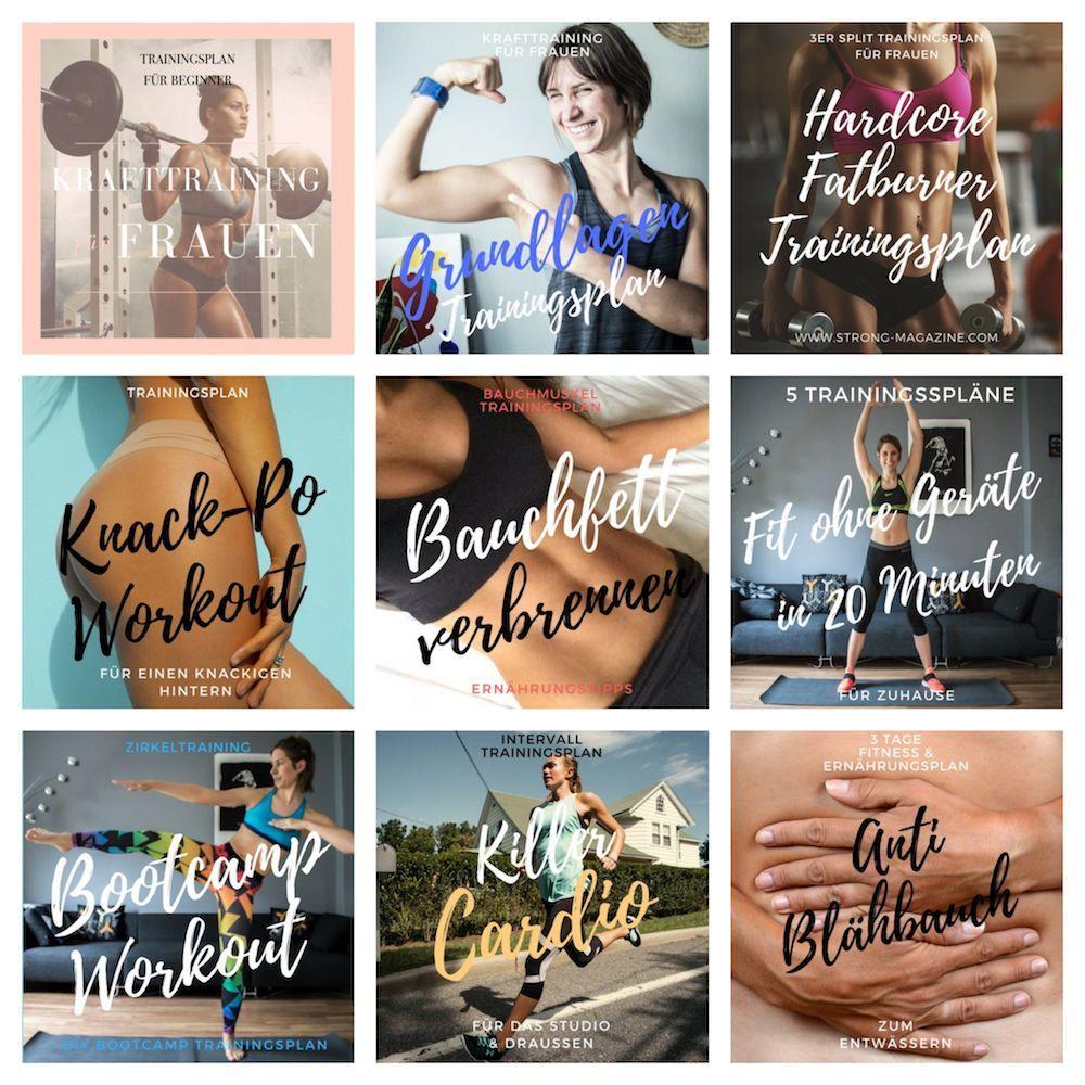 Fitness- und Ernährungspläne für Frauen - Trainingspläne -  STARKES All Incl Pack – 10 Trainingsplän...