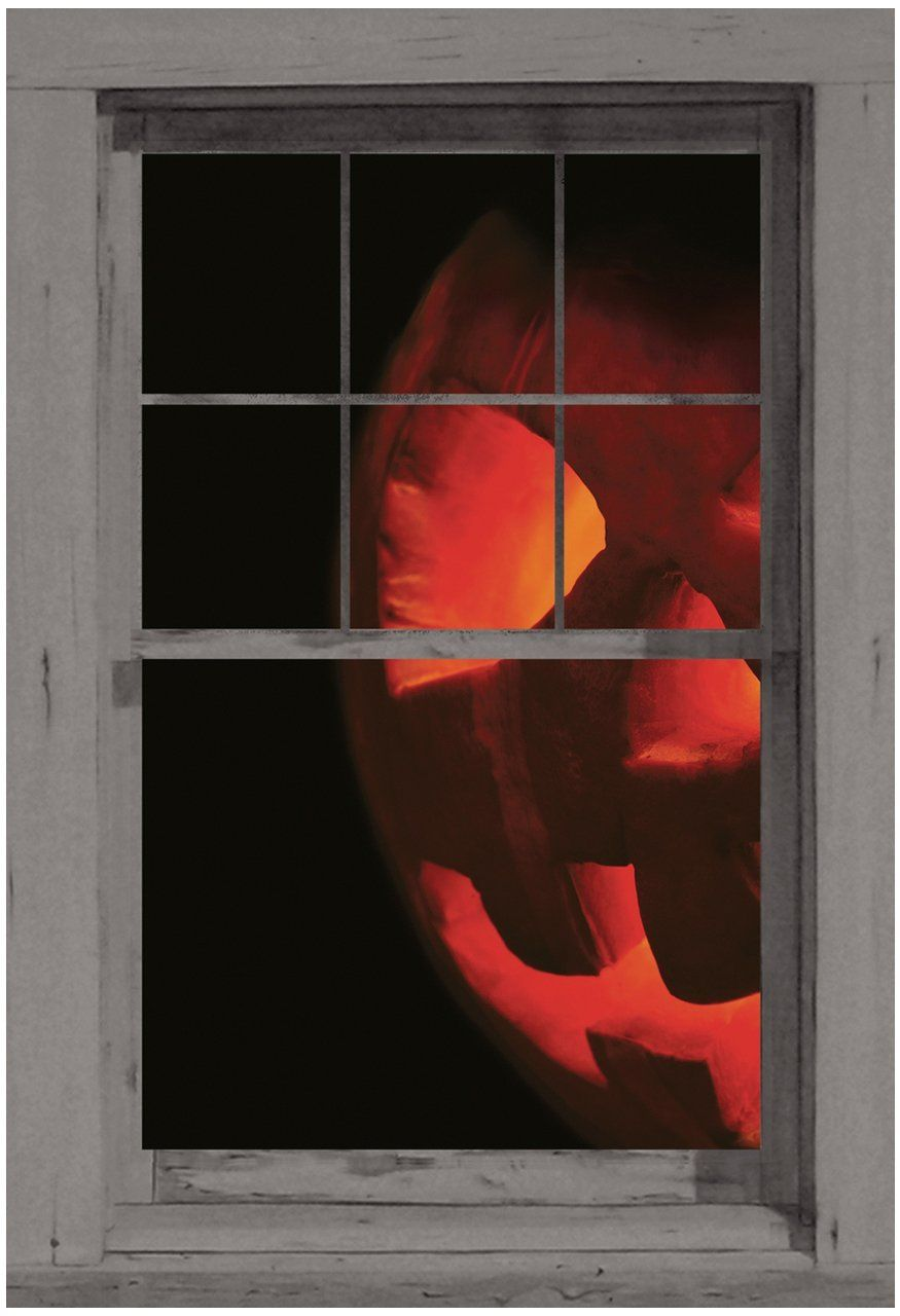 WOWindow Posters Peeking Jack Halloween Window Decoration Includes - Window Halloween Decorations
