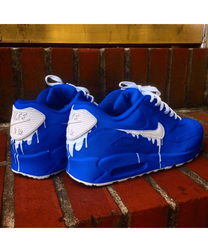 buy online 0973f 35879 Nike Air Max 90 Candy Drip Navy Blue White Trainer