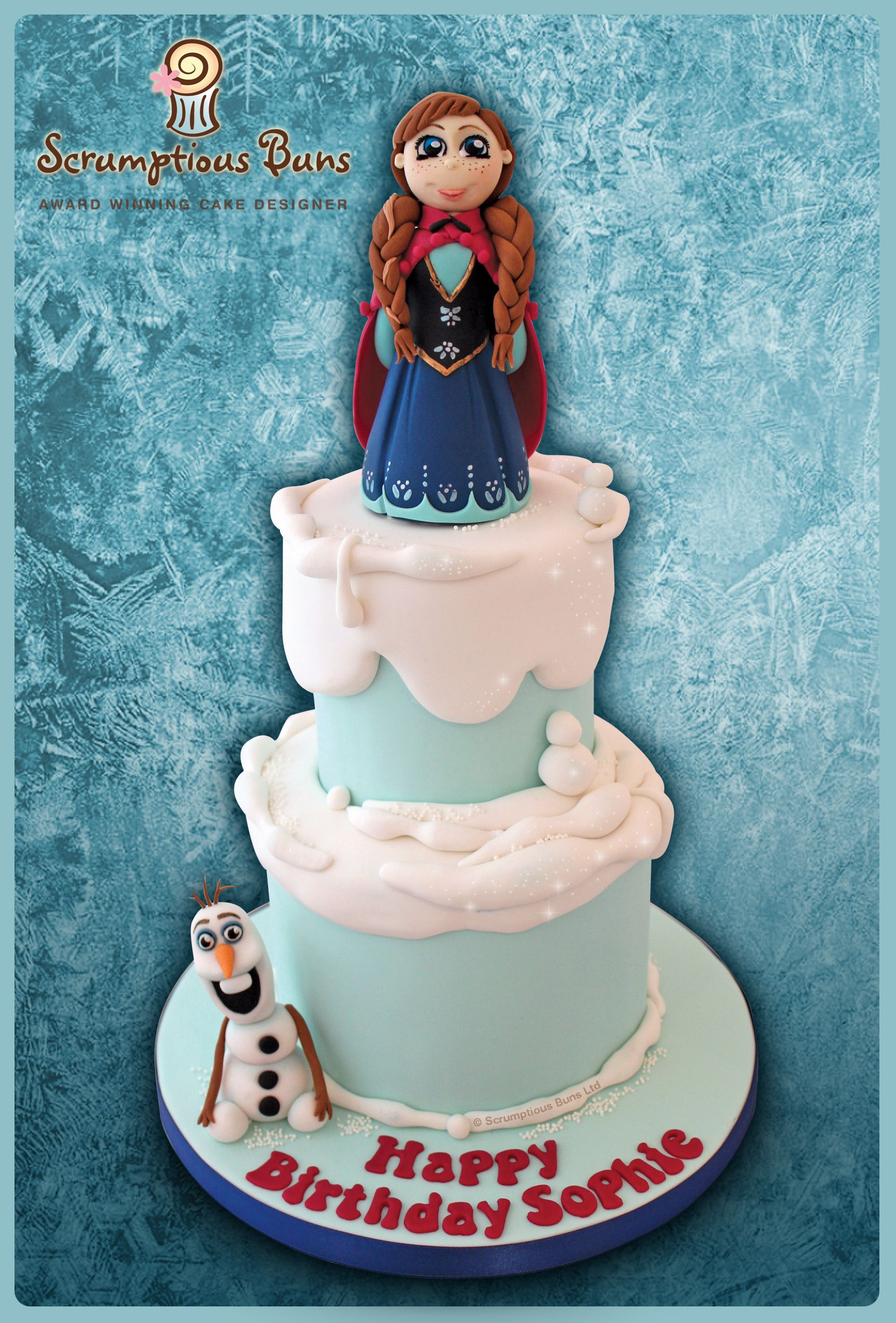 Frozen Ana Olaf Birthday Cake All About Sugar Art