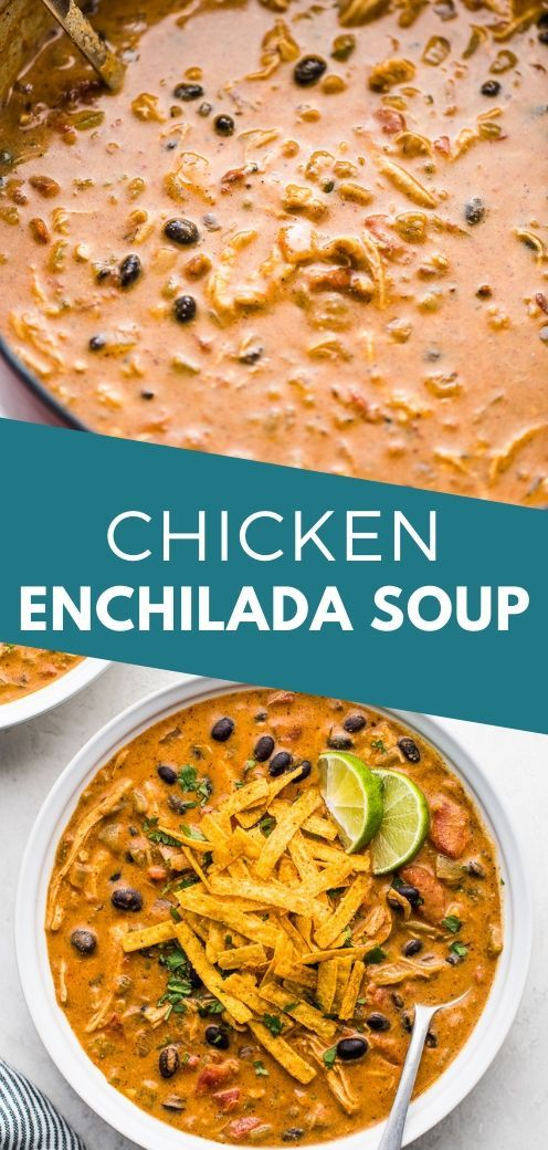 Chicken Enchilada Soup #mexicancooking