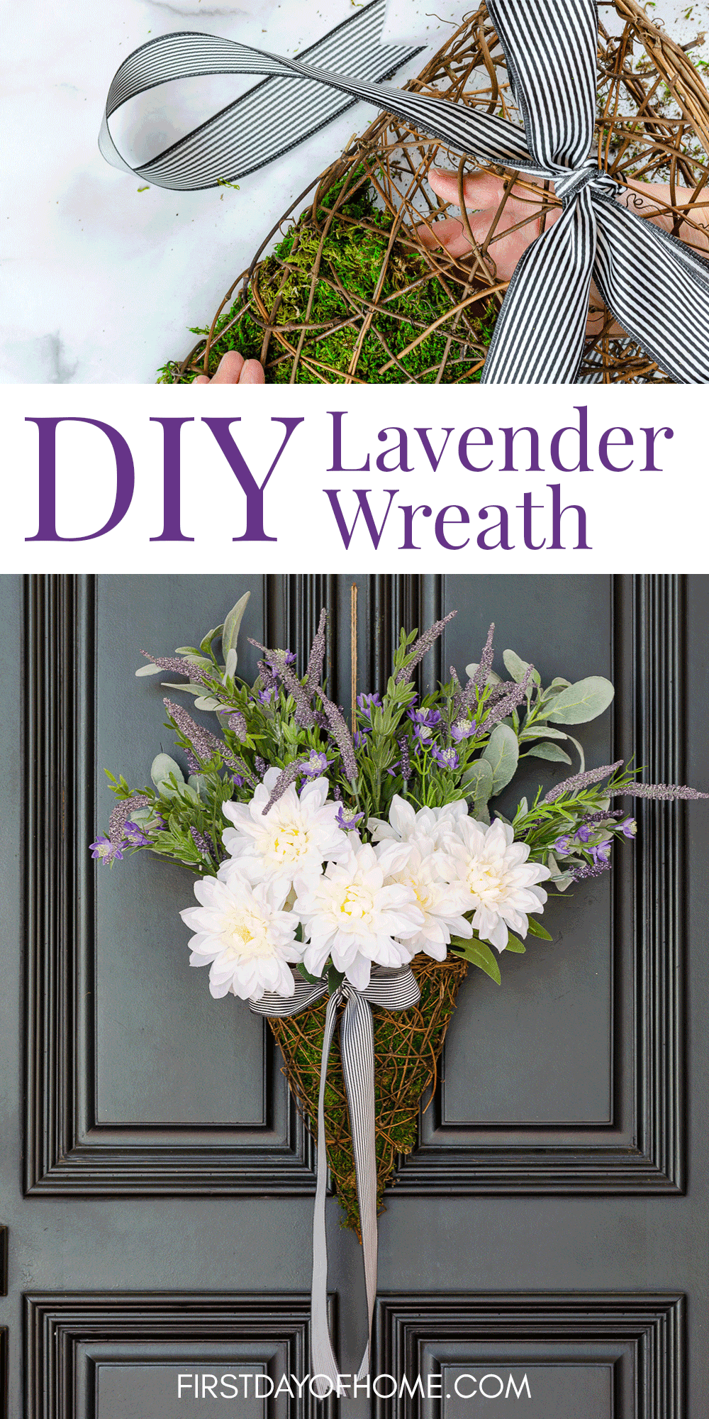 Photo of DIY Farmhouse Lavender Wreath (with Video)