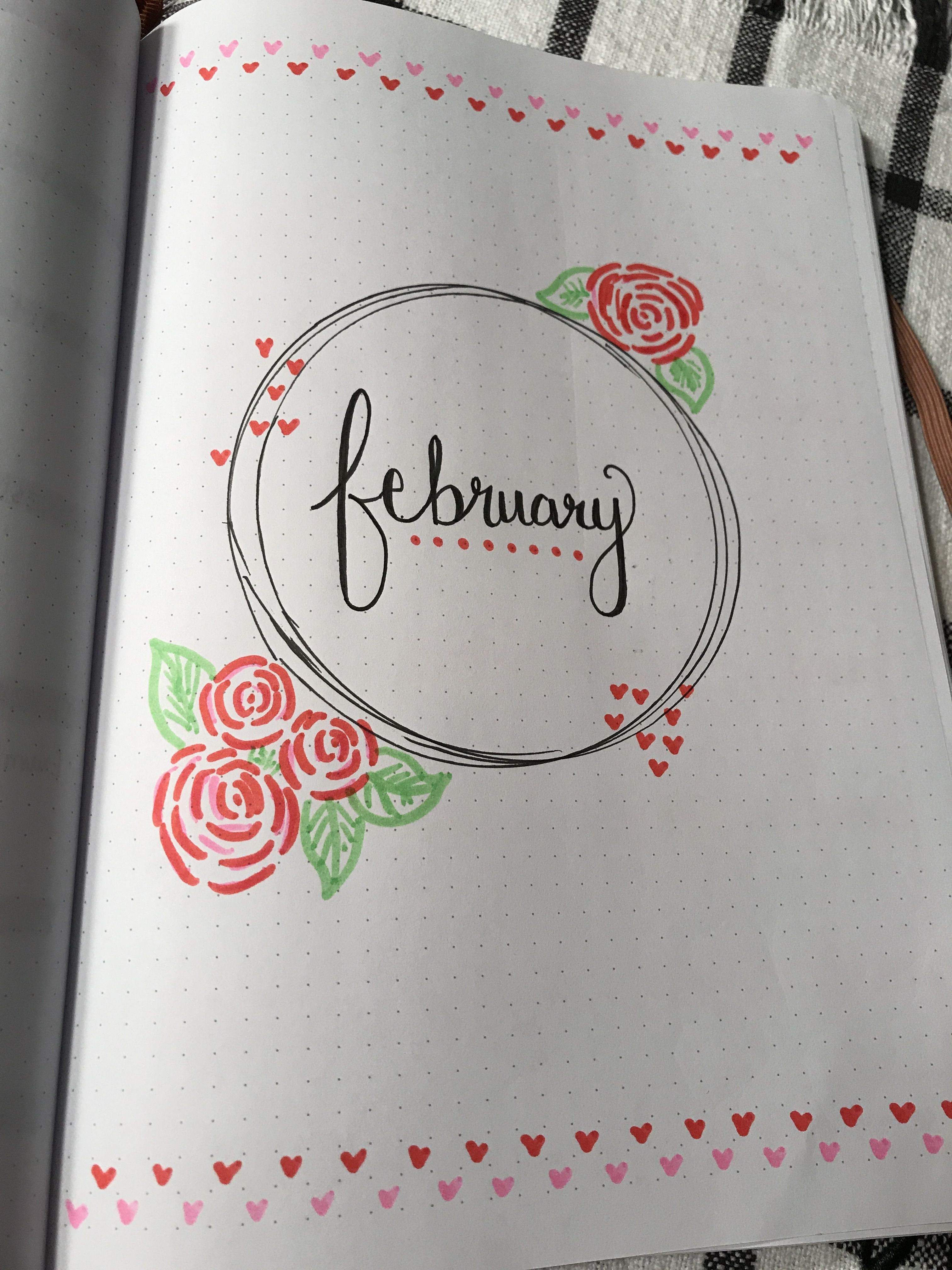 Minimalist February bullet journal cover
