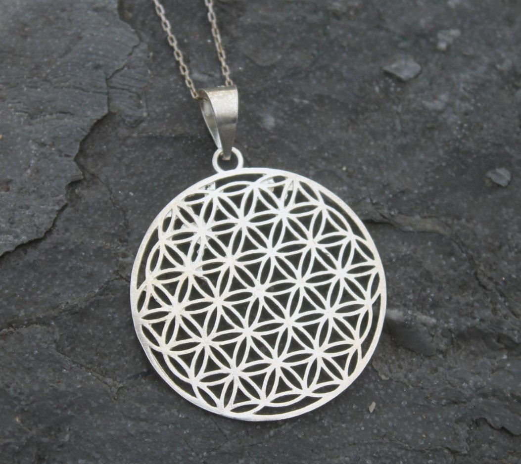 Flower of life necklace flower of life pendant sacred geometry the flower of life necklace flower of life pendant sacred geometry the seed of life silver necklace mozeypictures Gallery