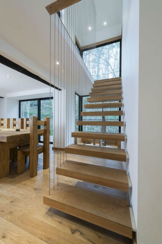 Treppe,Seil | STEEL WIRE | Pinterest | Staircases, House stairs and ...