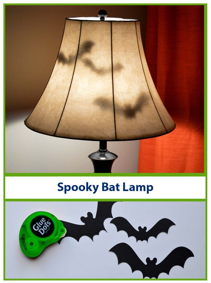 Spooky Bat Lamps Easy Halloween Decorations Diy Halloween Decorations Halloween Diy