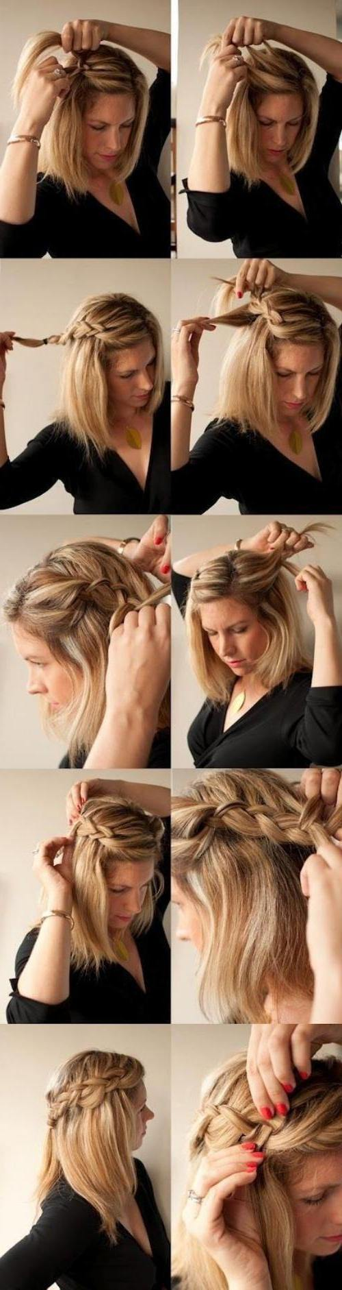 Easy updos for short hair to do yourself peinados para angelina easy updos for short hair to do yourself solutioingenieria Image collections