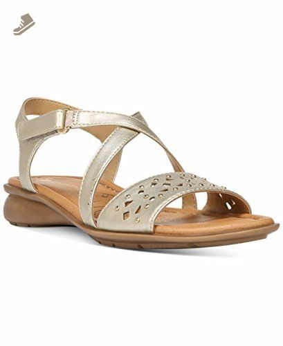 8fe7a21ae3d Naturalizer Womens Jacqueline Open Toe Casual Wedged Sandals, Gold ...