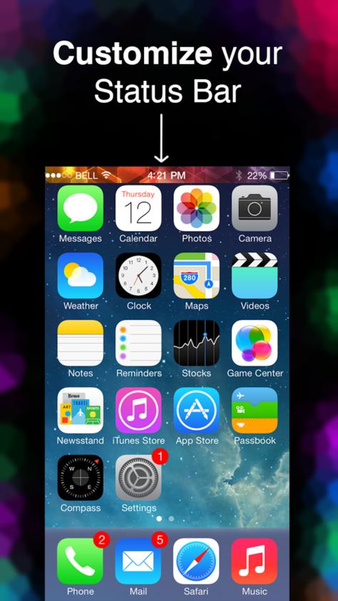 Iphone Status Art Custom Wallpaper Bar Effects 1 99 To Free Custom Wallpaper App Custom